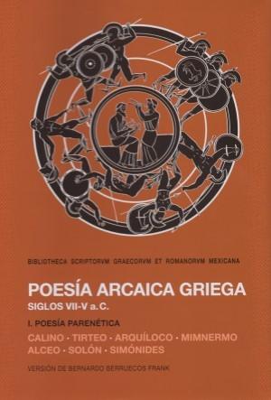 Poesía arcaica griega. Siglos VII-V
