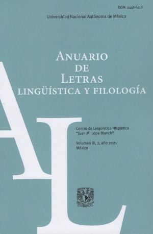 Anuario de Letras. Lingüística y Filología