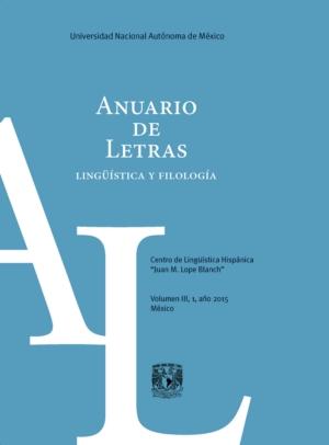 Anuario de Letras. Ling��stica y filolog�a